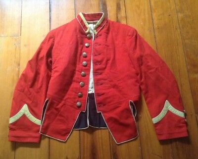 Unknown Victorian style dress miltary jacket, scarlet colour, steam punk?