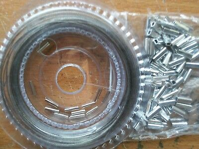 Wire Trace Clear Nylon Coated Stainless Steel 10m Coil 120lb / 54kg + 100 Crimps