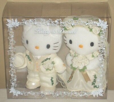 "Hello Kitty & Daniel Wedding Bridal Plush Dolls 6.1"" 15.5cm Sanrio 1999 Rare"