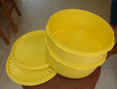 "VINTAGE TUPPERWARE #1204-5  ....     ""8-cup Canister with lid""....   2 of"