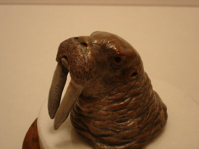 """Carol A. Grende Walrus """"Wally"""" Bronze Sculpture Signed & Numbered 10/50"""