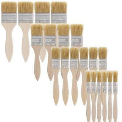 US Art Supply 20 Pack of Assorted Size Paint and Chip Brushes for Paint,...