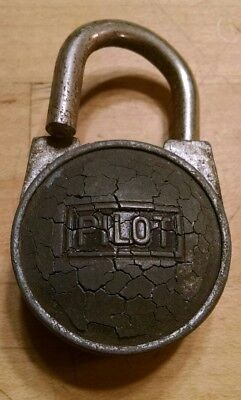 Pretty Rare Vintage Antique Pilot Padlock / Lock No Key