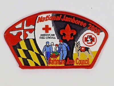 2005 NATIONAL JAMBOREE BALTIMORE AREA COUNCIL AMERICAN RED CROSS Boy Scout Patch
