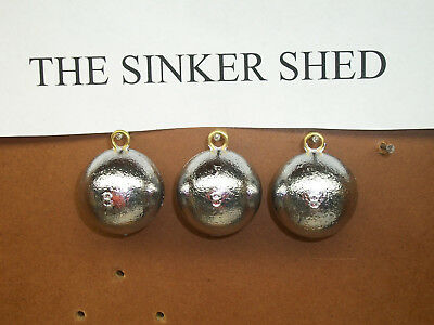 8 oz cannonball sinkers - choose quantity 10/20/40 - FREE SHIPPING