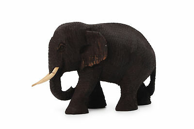 Hand Carved Teak Wooden Elephant Figure New Style