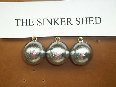 12 oz cannonball sinkers - choose quantity 10/20 - FREE SHIPPING