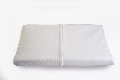 Less Mess Wipeable Changing Table Pad Cover in White - Waterproof, Non Toxic,