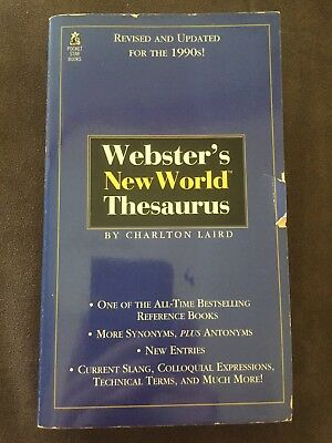 Webster's New World Thesaurus Book
