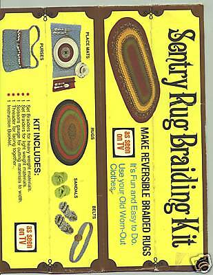 Sentry Rug Braiding Kit-Vintage in original box with instruction leaflet unopen