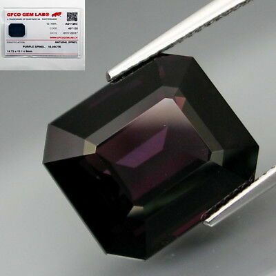16.05Ct.FREE! Certificate Natural HUGE Purple Spinel MaeSai,Thailand Lupe CLEAN!