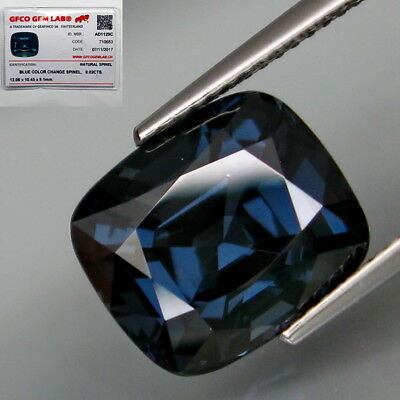 8.02Ct.FREE CERTIFIED! Natural BIG Blue Spinel MaeSai,Thailand Lupe CLEAN!