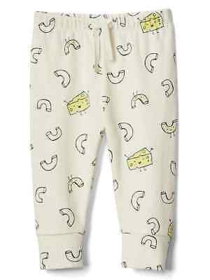 Baby Gap unisex Favorite Knit pants macaroni and cheese print size 3-6 month NWT