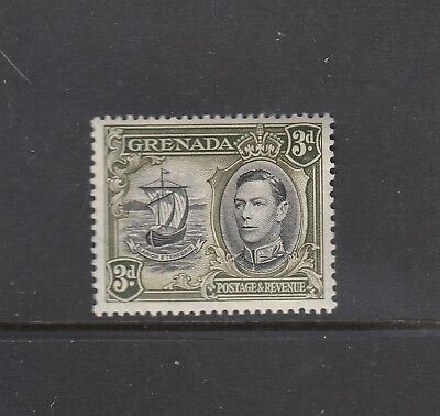 GRENADA: 1938 KGVI definitives 3d Black & Olive-green P13½x12½ SG 158a £14, MLH.