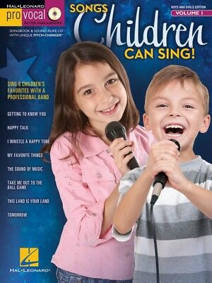 Songs Children Can Sing! - Pro Vocal Boys' & Girls' Edition Volume 1 - Book + CD