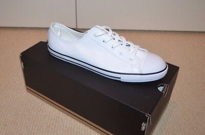 Converse  All Stars White Leather Women Sneakers Trainers Size 42 W 10