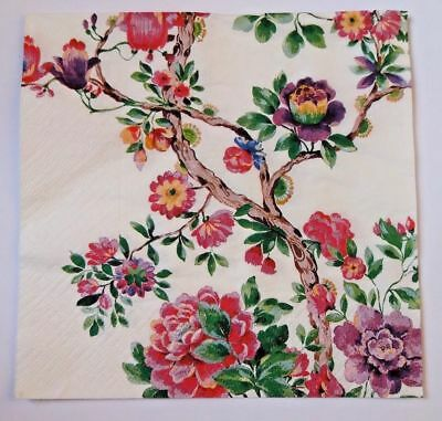3 x single paper napkins pink lilac flowers decoupage scrapbooking 3 3 x single paper napkins pink flower tree for decoupage scrapbooking 3 ply 13x13 mightylinksfo