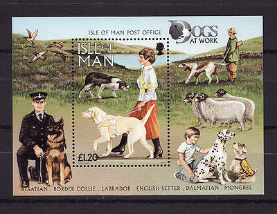 1996 Isle of Man, Dogs, NH Mint Sheet, SG ms725