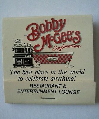 Collectable Book of Matches - Bobby McGee's Conglomeration - Restaurants