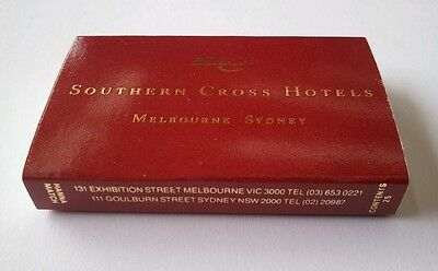 RARE FIND - Collectable Match Box - Southern Cross Hotels - Melbourne - Sydney
