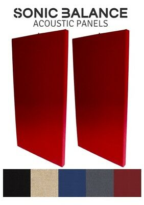 2X Large Acoustic Panels (RED) / Broadband Absorber for Pro/Home Studio