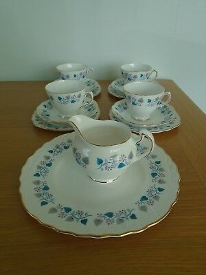 Vintage Royal Vale Blue & Grey Part Tea Set Wedding /  Tea Room  / Garden Party