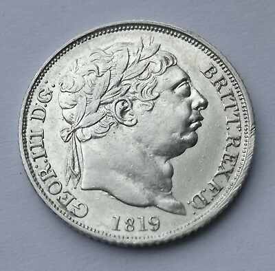 1819 George III Sterling Silver Sixpence High Grade
