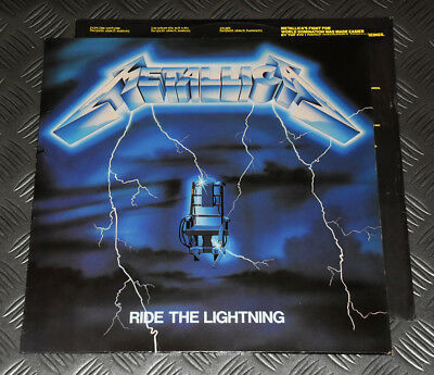 Metallica 'Ride The Lightning' 1st Press Dutch 84 Original LP w Inner RR9848 VG+