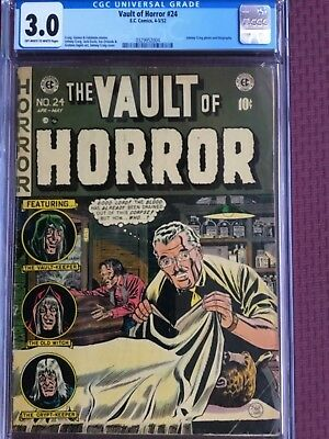Vault Of Horror 24, Cgc 3.0, Off White To White Pages!!