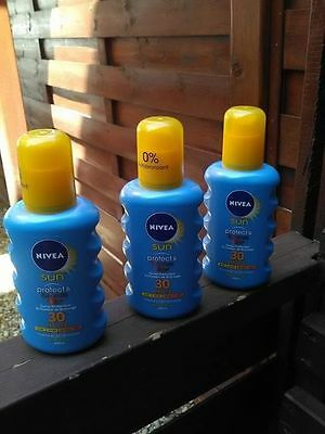 Lot De  3 Spray Nivea Sun Protect & Bronze Fps 30
