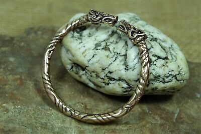 Viking Armlet Bronze Dog Heads 40g Wrist Jewellery Dog Bronzeschmuck Bangle