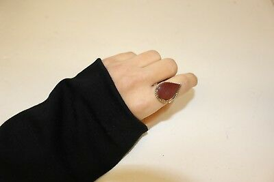 Afghan Adjustable Stone Cocktail Ring Fashion Tribal Ethnic Jewellery Statement