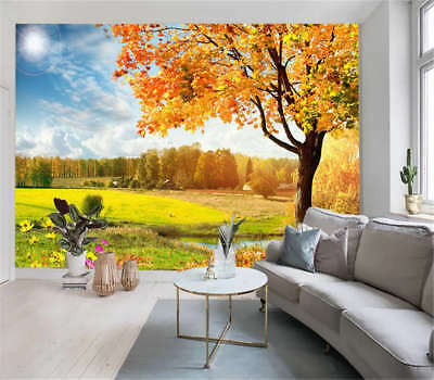 Friendly Sober Field 3D Full Wall Mural Photo Wallpaper Printing Home Kids Decor