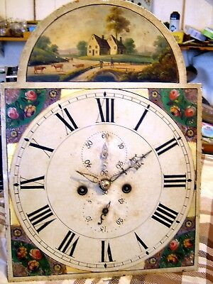Longcase Grandfather clock 8 day dial and movement - spares or repair