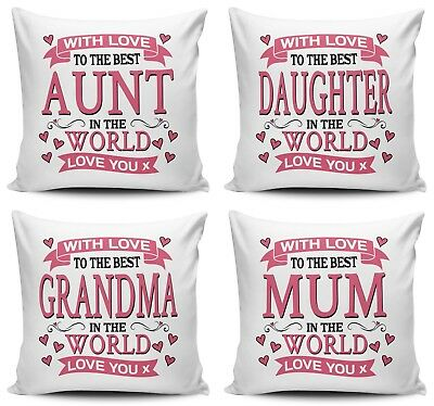With Love To The Best Relative In The World Cushion Cover Variation