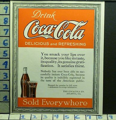 1919 Coca Cola Coke Fountain Drink Jerk Beverage Soda Pop Vintage   V03