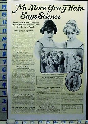 1922 Hygienic Hair Color Gray Cosmetic Salon Health Beauty Vintage Ad Ai32
