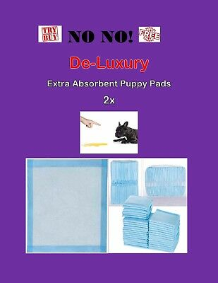 300 Extra Absorbent De-Luxury 2x Puppy Training Pee Piddle Pads 17x24""