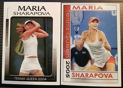 Maria SHARAPOVA Tennis Queen Limited Edition card 2004 #01/50 2005 #30/50 Tennis