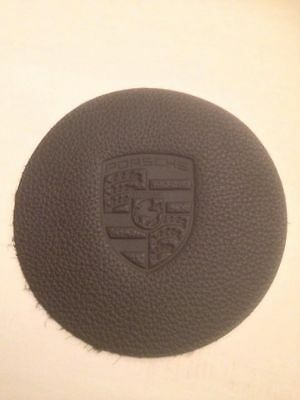 Porsche 911 912 Horn Button - Leather embossed crest