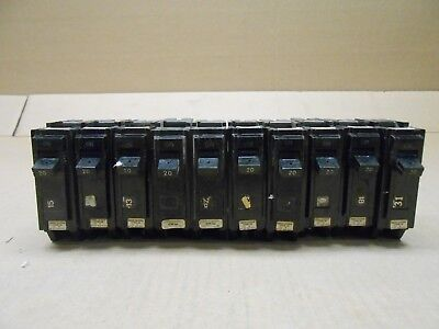 10 Ge General Electric Thql Thql1120 Circuit Breaker 20A 20 Amp 1P 1 Pole 240V