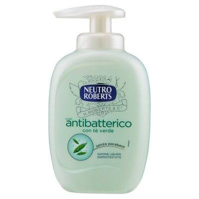 Neutro Roberts Sapone Liquido 300Ml.base Con Dispenser Antibatterico Te' Verde