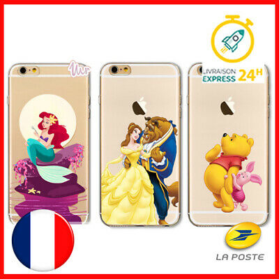 📱 Coque Silicone Iphone 6 6s DISNEY - Winnie Ariel La belle et la bête