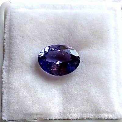 1.72 Ct  IGTLJ LABORATORY CERTIFIED SHIMMERING IF OVAL NATURAL TANZANITE