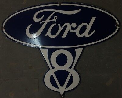 """Porcelain FORD Sign SIZE 35.5"""" X 28"""" INCHES"""