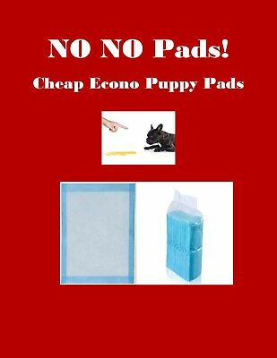 "23x24"" 800 CHEAP NO NO Pads Piddle Puppy Training Pads Lightweight Economy Pads"