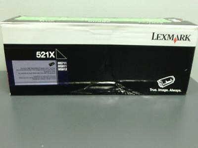 New genuine LEXMARK 521X Extra High Yield Toner Cartridge