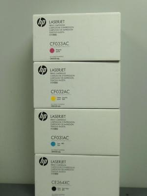 New Genuine HP LASERJET  CM4540mfp Color Print Cartridge Set