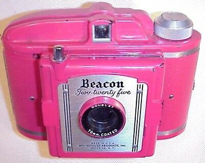 Beacon Two-Twenty Five Camera Rare Vintage Red