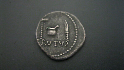 AR Denarius. Brutus and Cassius. 43-42.